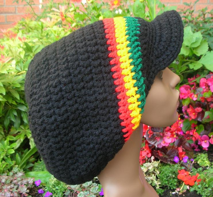 Visor SlouchRasta Tam Pattern Patterns For Sale Links Crochetville Impressive Rasta Hat Crochet Pattern