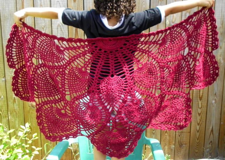 Pineapple Shawl Shawls Wraps Crochetville