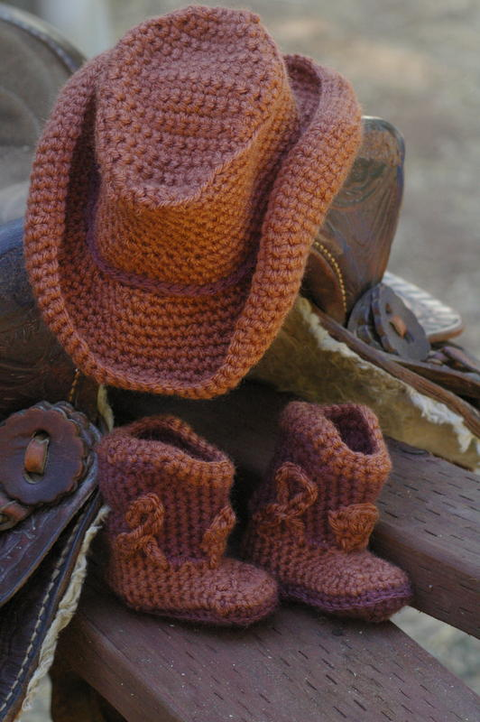 Baby Cowboy Boots And Hat Baby Toddler Items Crochetville