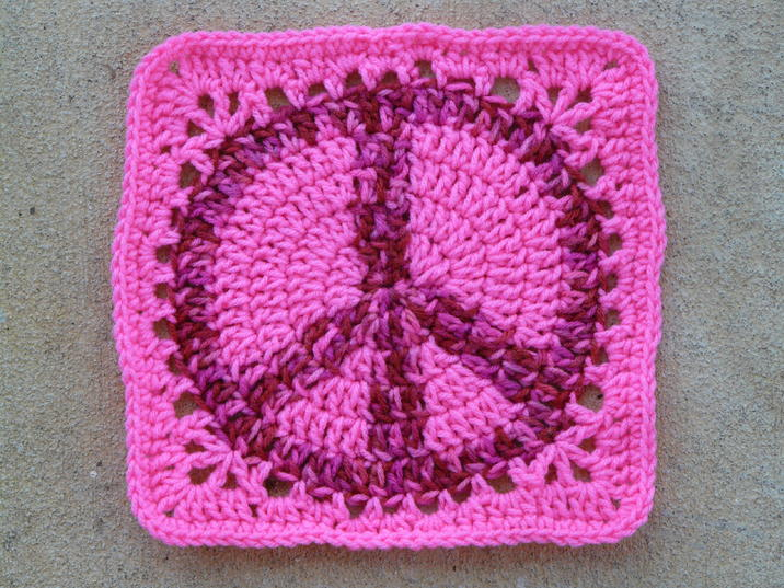 Judy Ks Peace Sign Granny Square Squares And Motifs Crochetville