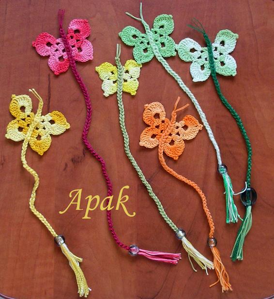 Butterfly bookmarks - Free Original Patterns - Crochetville