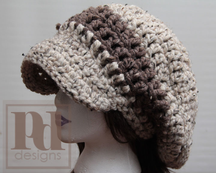 Chunky Newsboy Xl Chunky Slouchy Hat With Brim Patterns For Sale