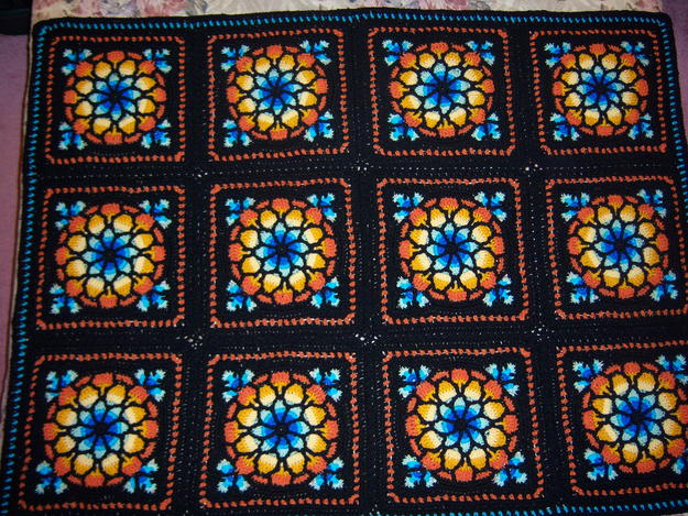 Stained Glass Window Afghan Afghans Crochetville