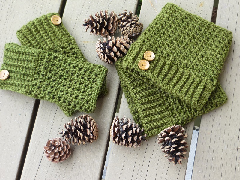 Matching Boot Cuffs And Fingerless Mittens Free Pattern Links