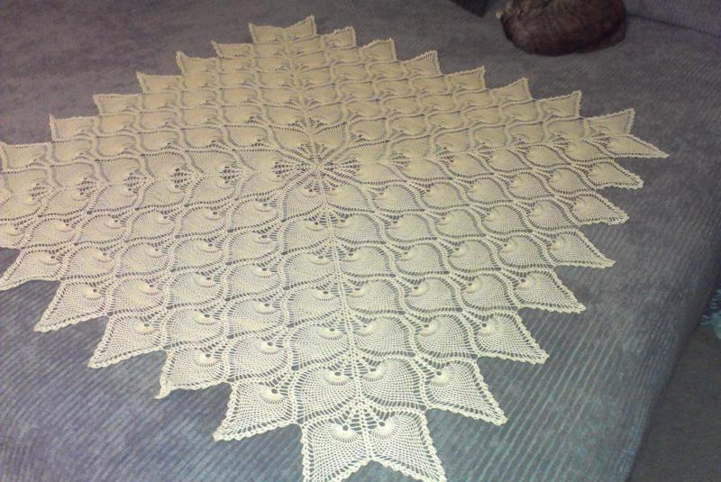 Pineapple Square Small Tablecloth Other Thread Crochet Crochetville