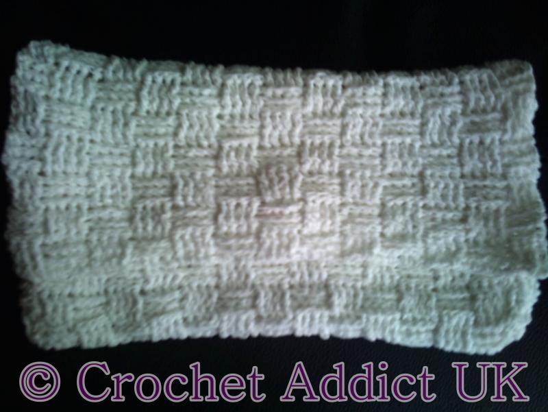 Basket Weave Handbagclutch Bag Free Crochet Pattern Free Pattern