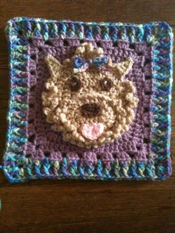 Yorkie Pride Square 8 Inch Free Original Patterns Crochetville