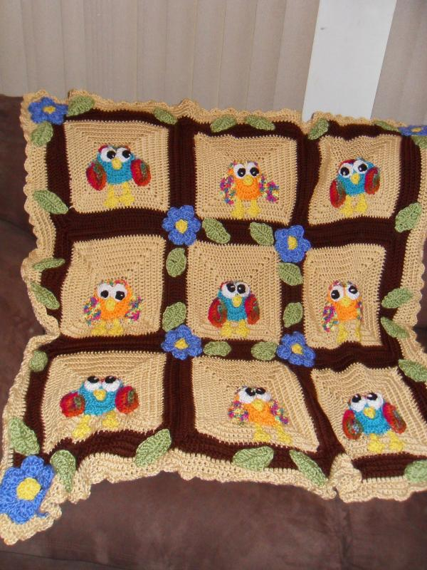 Happy Owl Afghan And Stuffed Owl Baby Toddler Items Crochetville Awesome Owl Afghan Crochet Pattern Free