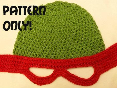 Tmnt Hat Pattern With Eye Holes And Tie Back Seeking Patterns