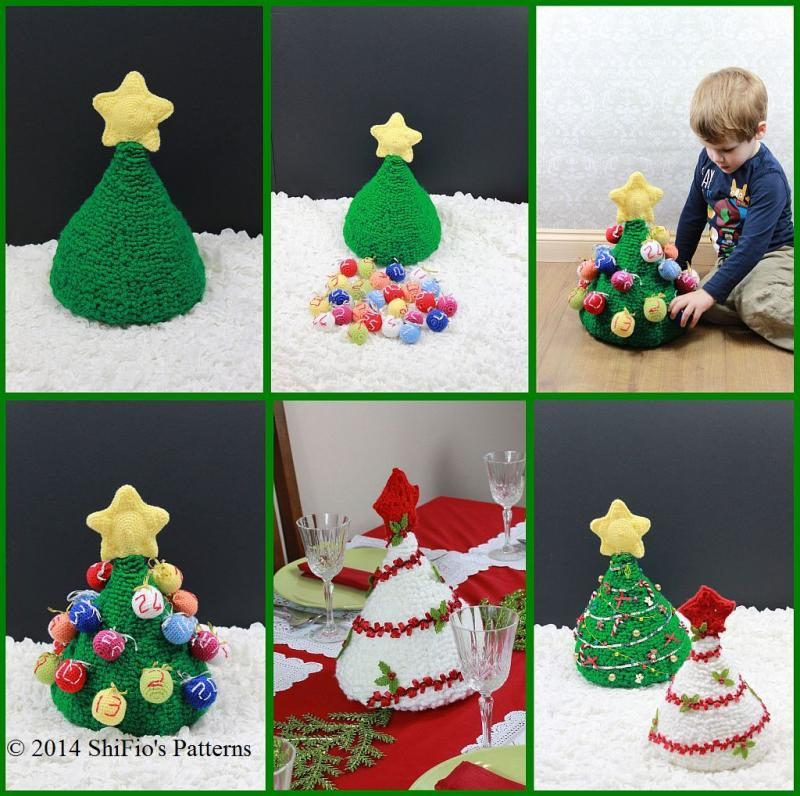 crochet christmas tree advent calendar or table decoration ...