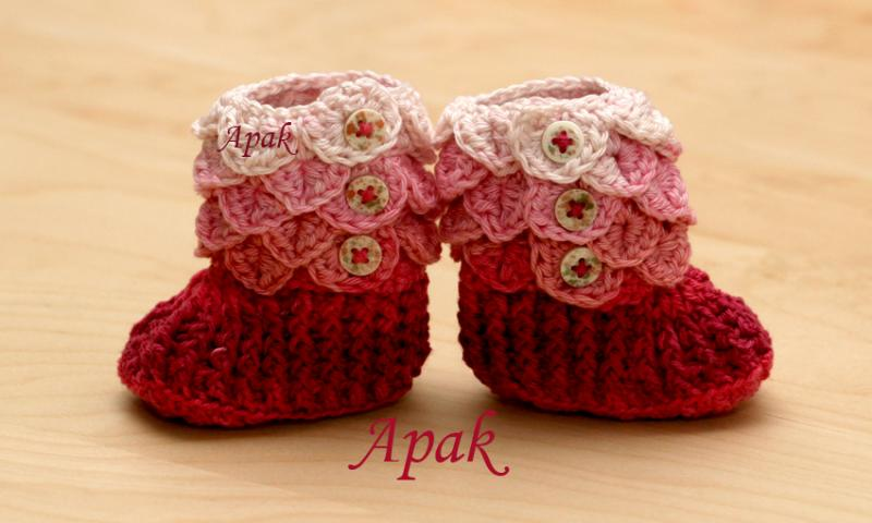 Crocodile stitch booties - Baby & Toddler Items - Crochetville