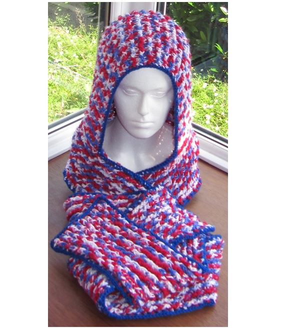 Ribbed Chunky Scoodie - Free Pattern Links - Crochetville