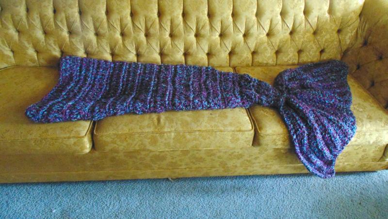 Cozy Mermaid Tail Blanket Childrens Items Crochetville