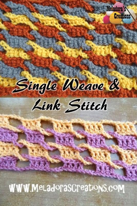 Single Weave And Link Stitch Free Crochet Pattern Free Pattern