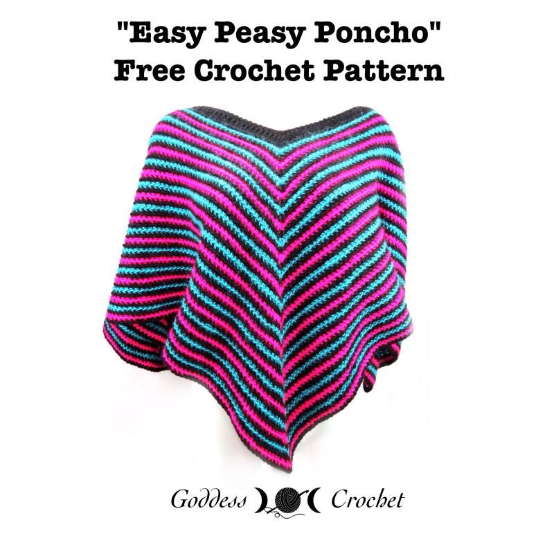 Easy Peasy Poncho Adult And Child Sizes Free Pattern Links