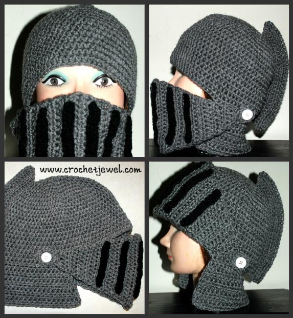 Crochet Boy\'s and Men\'s Knight Helmet Hat - Free Pattern Links ...