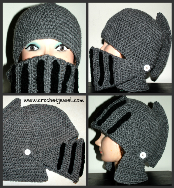 Crochet Boys And Mens Knight Helmet Hat Free Pattern Links