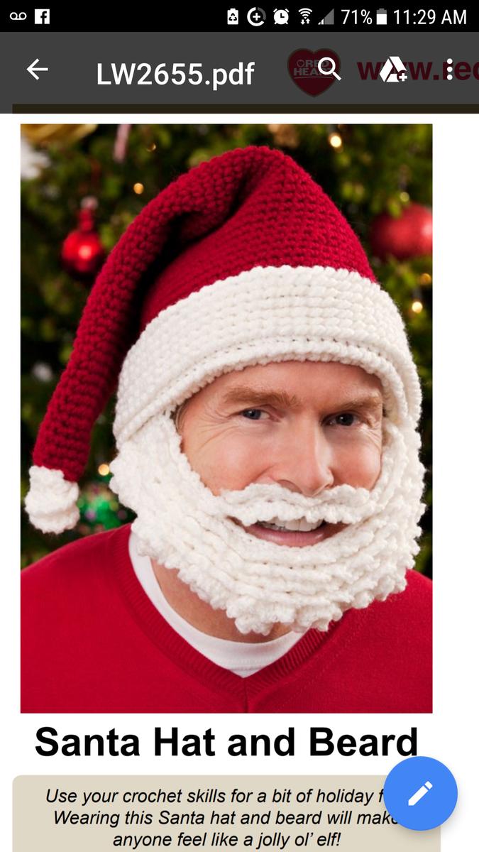 865a42cfd33 santa beard hat. - Crochet Stitch Help - Crochetville