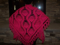 Raspberry Pineapple Shawl