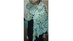 Ice Blue & Sage Green Shawl