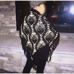 Black Pineapple Shawl