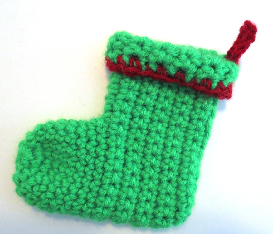 Green Neon Cuff Christmas Stocking.JPG