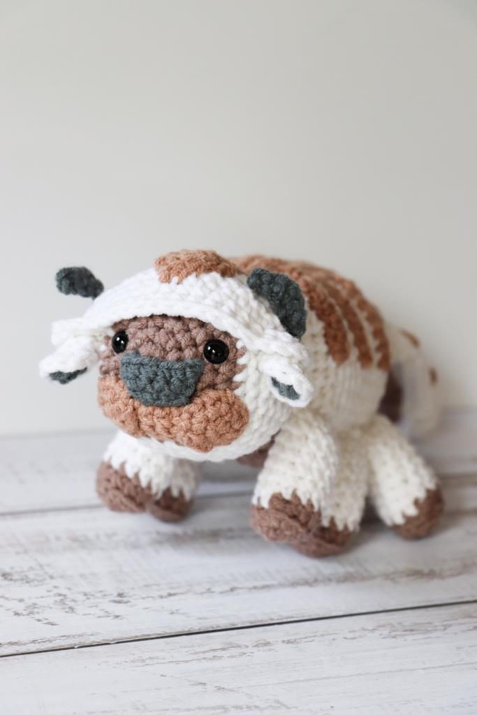 Crochet Appa Sky Bison Avatarthe Last Airbender Free Pattern