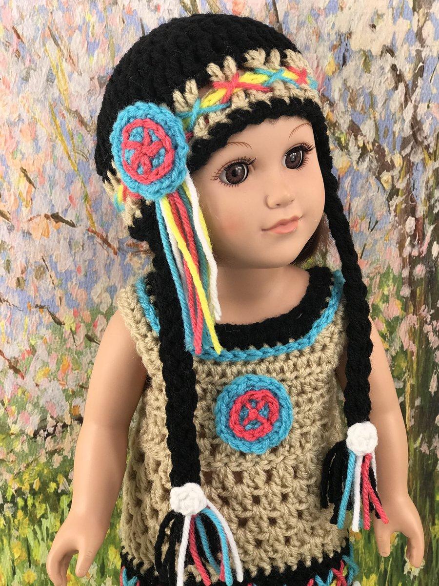 18 Native American Doll Hat Free Original Patterns Crochetville