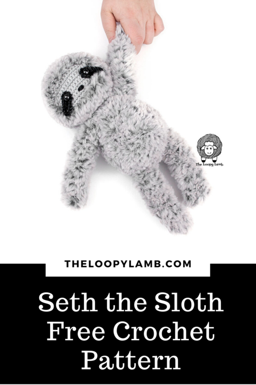 Seth the Sloth - Free Crochet Sloth Pattern - Amigurumi Sloth - The Loopy Lamb - COVER 2.png