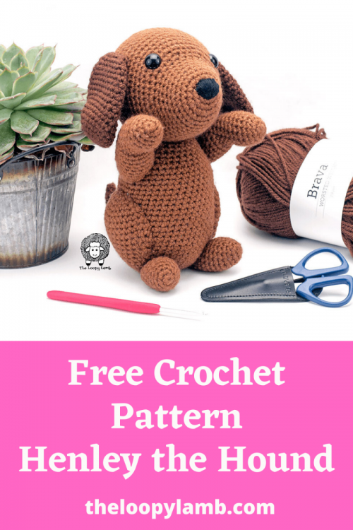 Free Crochet Dog Pattern - Henley the Hound - Crochet Puppy - COVER.png