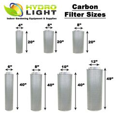 HydroLight™ Hydro Light Carbon Filter All Sizes