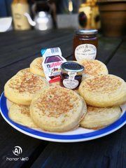 It's not smoked, but you gotta love homemade crumpets