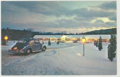 Vintage Vermont Motel Postcard (with VW)
