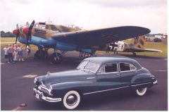 Heinkel He-111 and '47 Buick