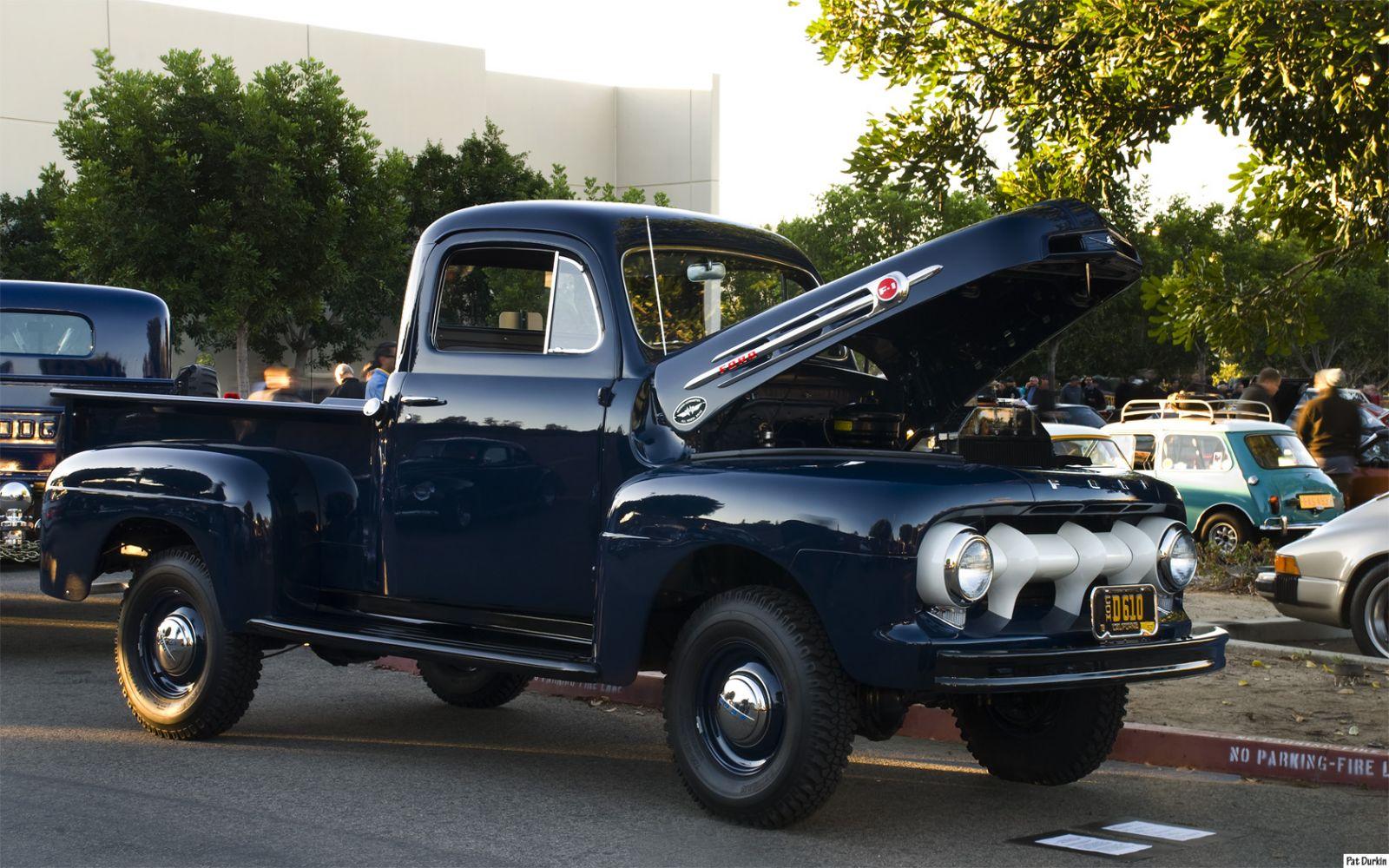 Ford F  Pickup With Marmon Harrington X Adaptation Navy Blue