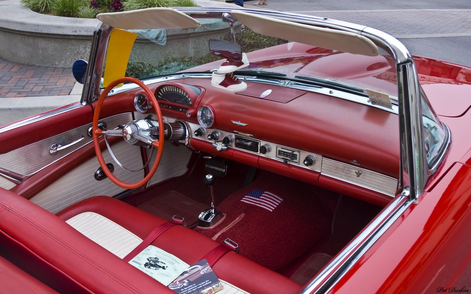 Ford Post War Antique Automobile Club Of America Discussion Forums 1955 F100 Interior Thunderbird With Top Removed Red