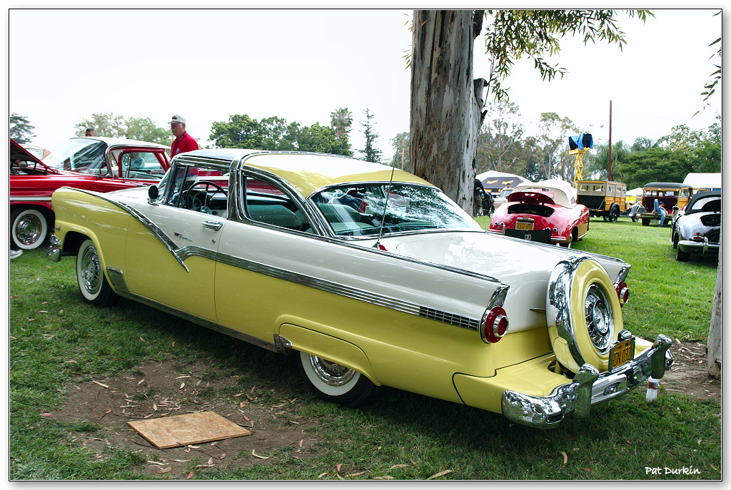 1956 Ford Fairlane Crown Victoria Skyliner 2 Door Coupe White Over Yellow