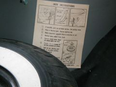 Spare tire changing instructions