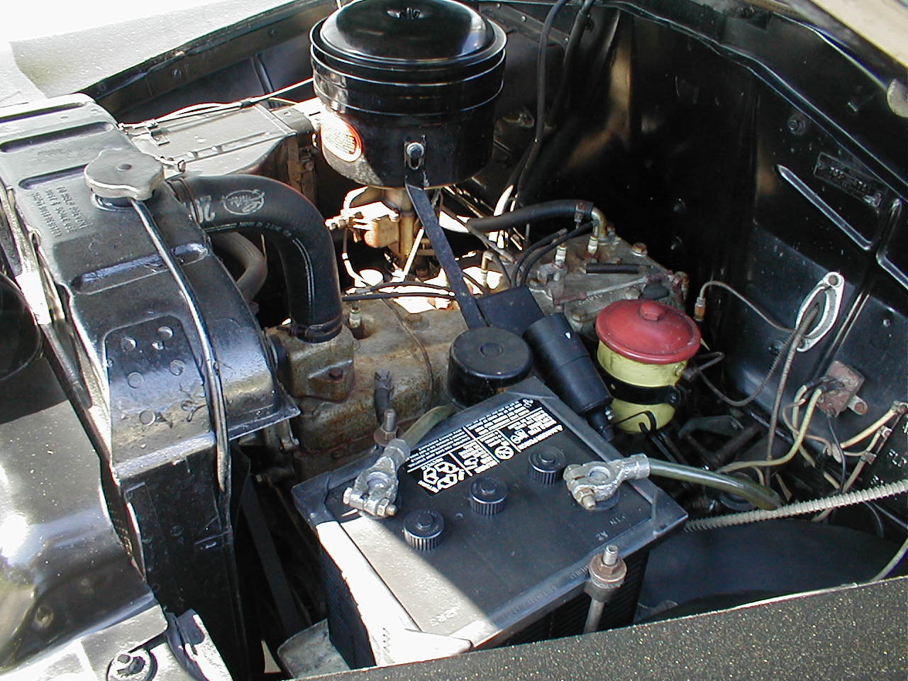 1949 49 Plymouth Engine Compartment Very Clean