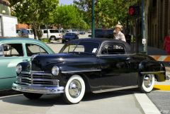 1950 Plymouth coupe - black - fvl