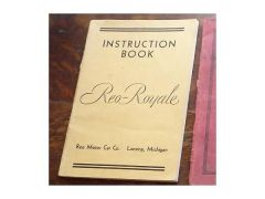 Reo Royale Instruction Manual