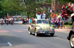 Mierz's '60 VW in the 2006 Branford, CT Memorial Day Parade
