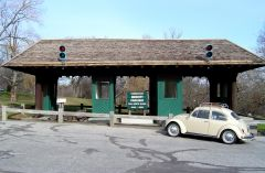 Preserved Merritt Parkway Toll Booth Plaza