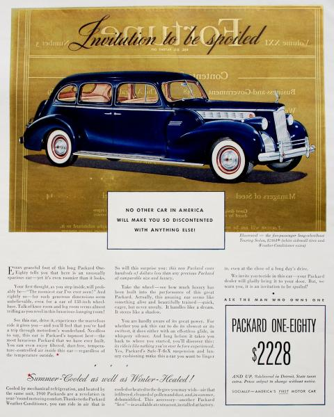 1940 Packard 180 Fortune Golden Ad