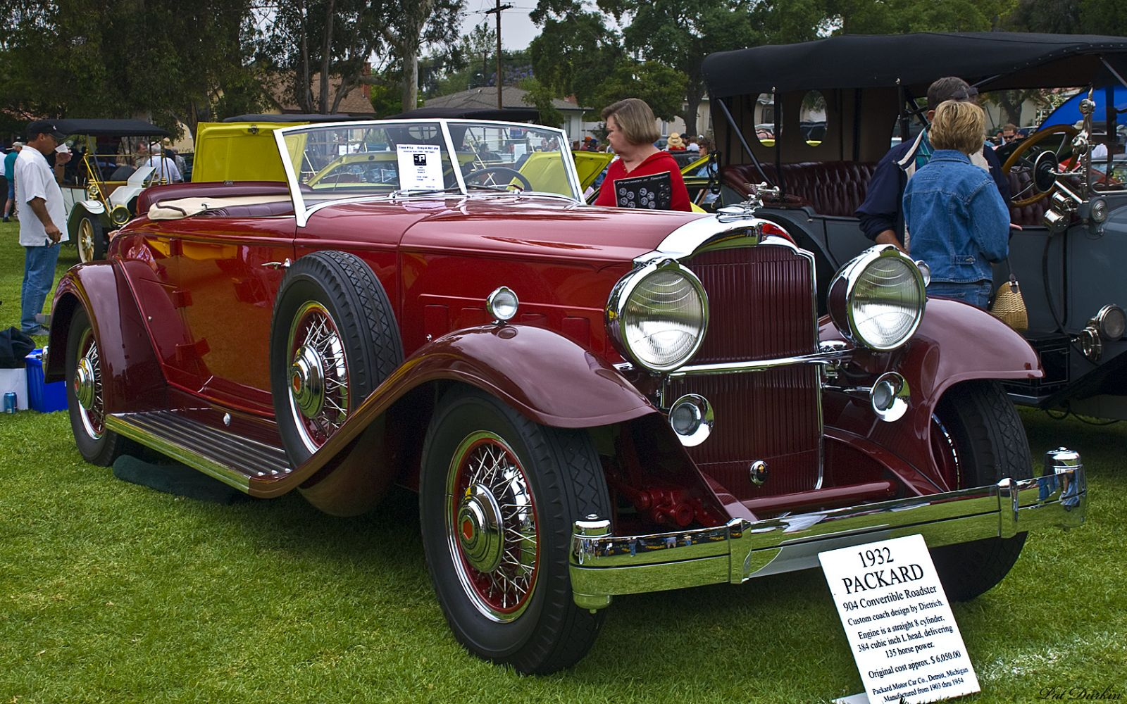 1932 Packard 904 Convertible Roadster - red - fvr 2
