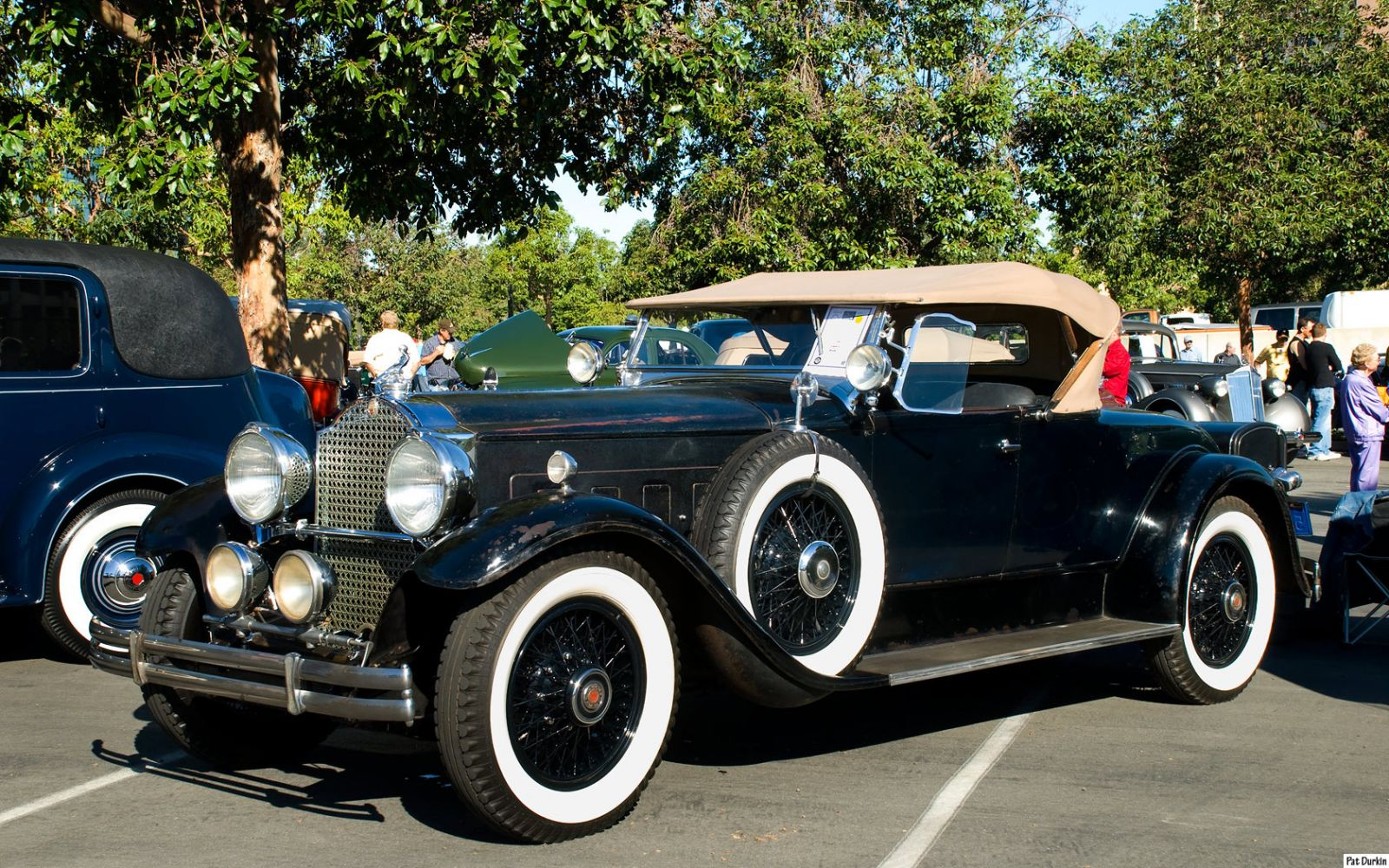 1930 Packard 740 Roadster - black - fvl