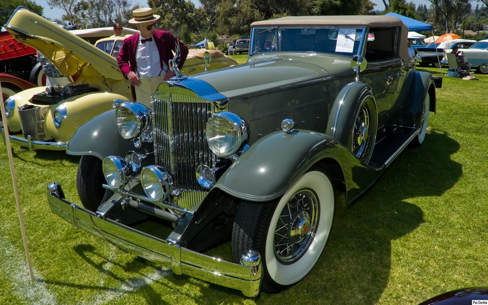 1933 Packard 1004 Roadster - gray - fvl
