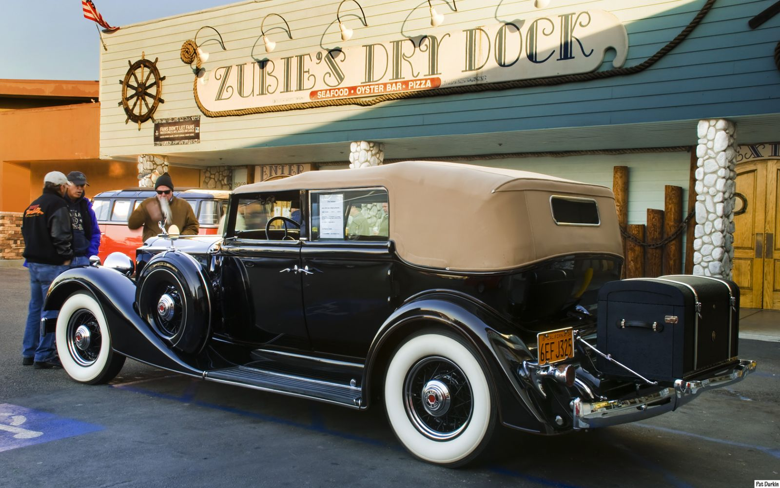 1934 Packard 1101 Convertible Sedan by Dietrich - black - rvl