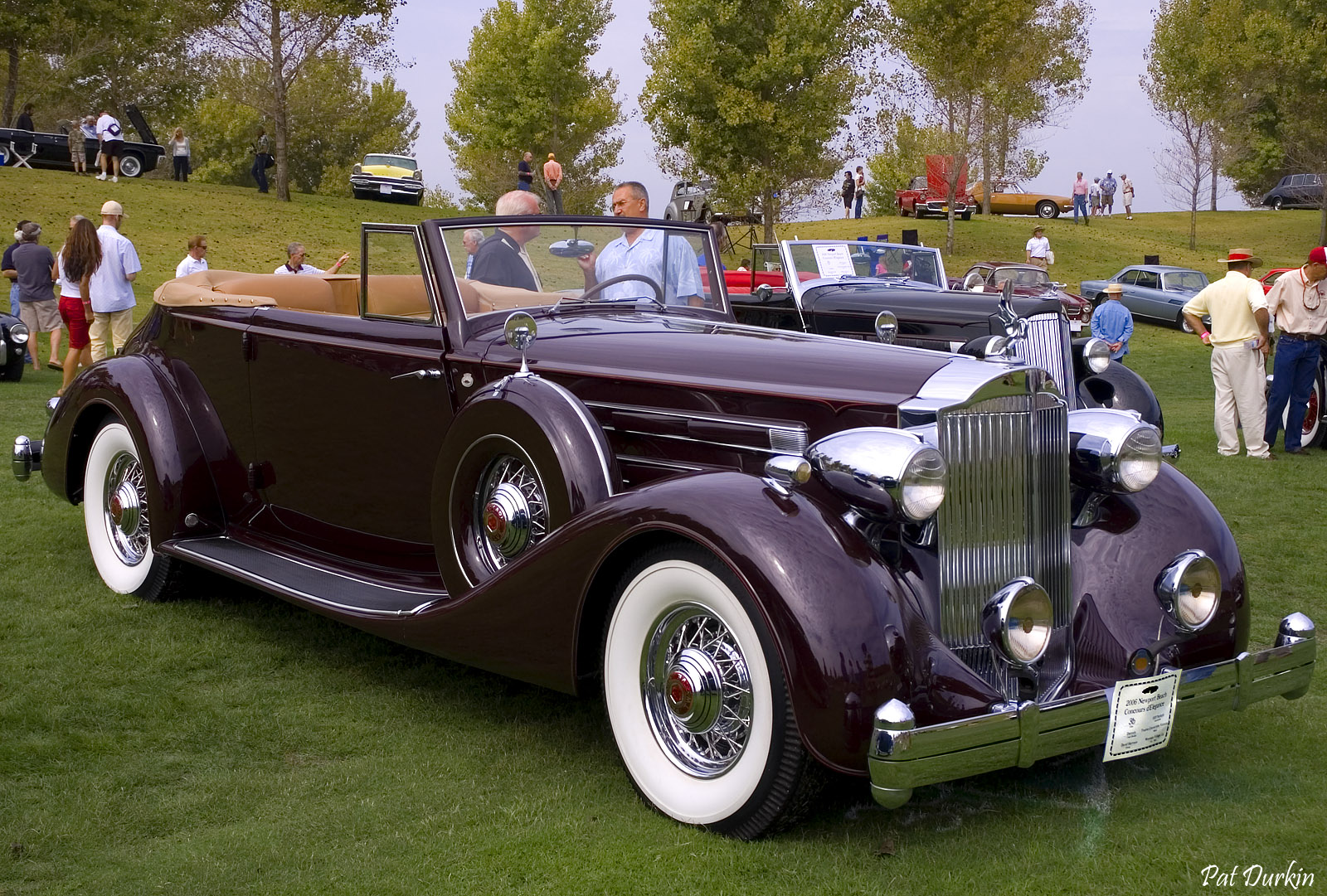 1935 Packard 12 Convertible Victoria by Dietrich - brown - fvr