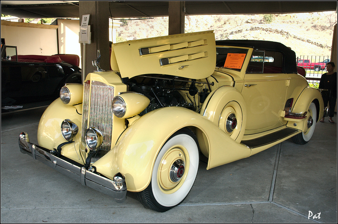 1935 Packard 1207 Convertible Coupe Roadster - yellow - fvl